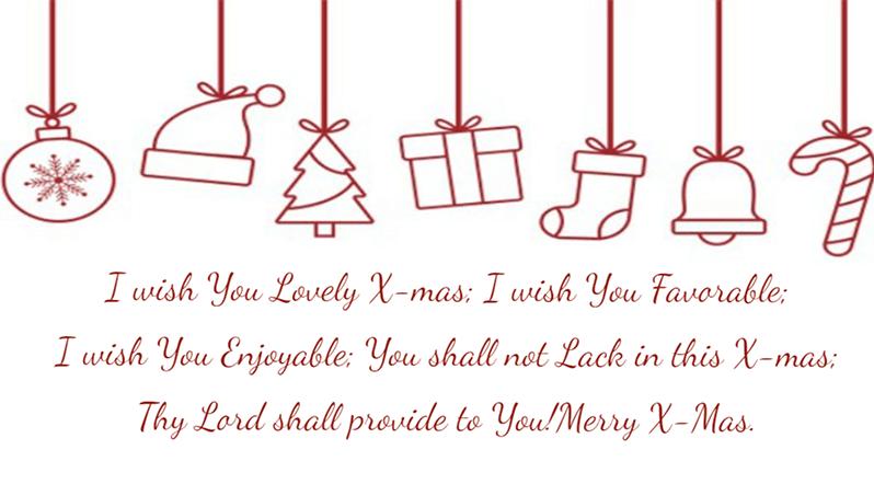 คำอวยพร เทศการ Christmas